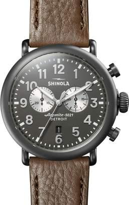 Shinola 47mm Runwell 2 Eye Chrono Brushed PVD Watch
