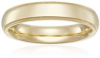 Standard Comfort-Fit 14K Yellow Gold Milgrain Band