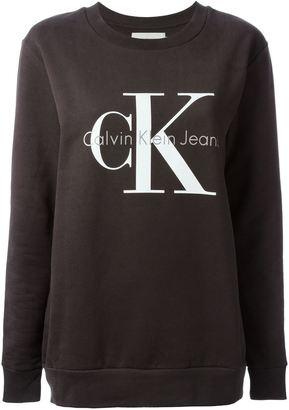 Calvin Klein Jeans logo print sweatshirt $97.96 thestylecure.com