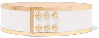Balmain Button-detailed Leather Waist Belt - Gold