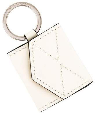 Lancel Leather Logo Keychain