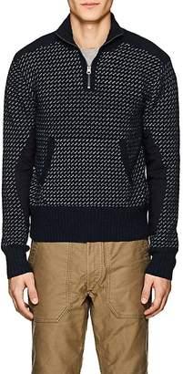 Rrl Men's Flecked Wool-Blend Half-Zip Sweater
