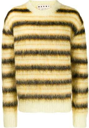 Marni striped knitted sweater