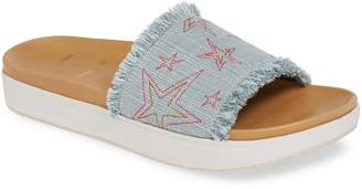 Minnetonka x Lottie Moss Abbey Embroidered Slide Sandal