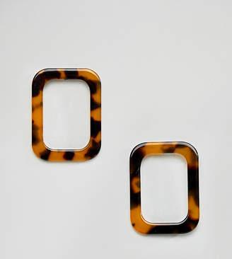 Reclaimed Vintage inspired tort square earrings