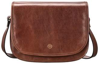 Maxwell Scott Bags Handcrafted Tan Leather Saddle Bag For Women