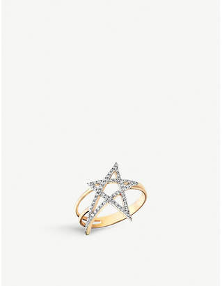 Rosegold The Alkemistry Kismet by Milka 14ct rose-gold and diamond star ring