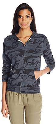 Monrow Women's Zip up Hoody With Bone Blue Camo