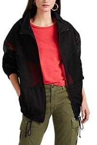 Yohji Yamamoto Women's Mesh-Inset Cotton Jacket - Black
