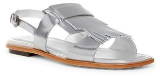 Tod's Flat Fringe Sandal