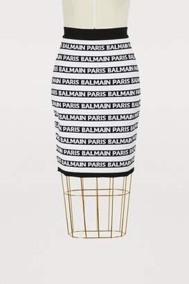 Balmain Logo mini skirt