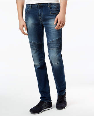 Armani Exchange Men's Skinny Fit Stretch Moto Jeans