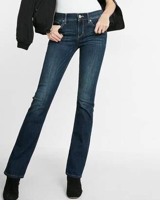 Express Petite Mid Rise Dark Wash Barely Boot Jean