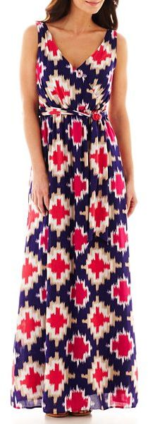 JCPenney jcp Sleeveless Crossover Maxi Dress