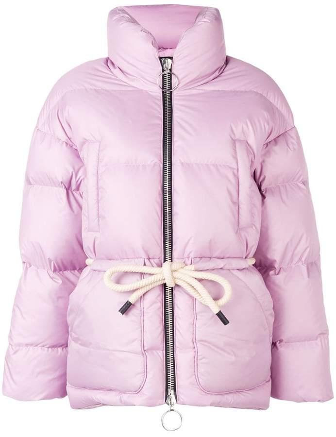 Ienki Ienki Mishko tie-waist puffer jacket