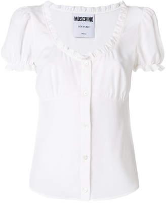 Moschino ruffled corset blouse