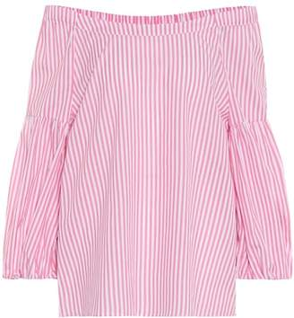 Velvet Gloris off-the-shoulder cotton top
