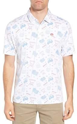 Travis Mathew Ahh Yeah Regular Fit Short Sleeve Sport Shirt