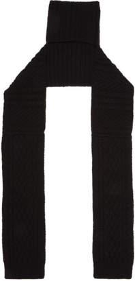 Y's Ys Black Knit Turtleneck Scarf