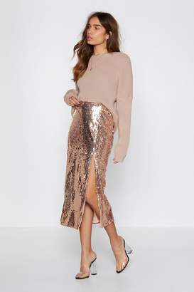 Nasty Gal It's Payback Shine Sequin Skirt