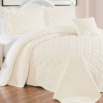 Unbranded Tatami Quilted Faux Fur 4-Piece Bedspread Set