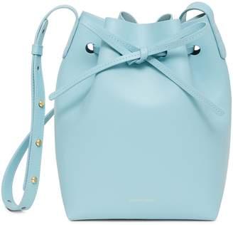 Mansur Gavriel Calf Mini Bucket Bag - Sky Blue