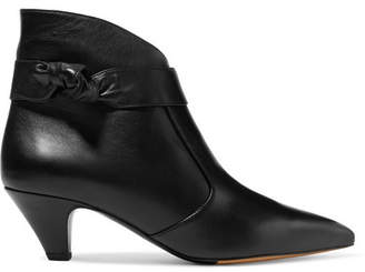 Tabitha Simmons Nixie Knotted Leather Ankle Boots - Black