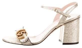 Gucci Marmont Ankle Strap Sandals