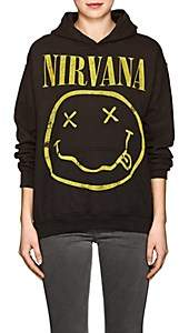 "Madeworn Women's ""Nirvana"" Cotton-Blend Fleece Hoodie - Black"