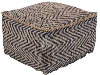 Surya Bodega Woven Cube Pouf
