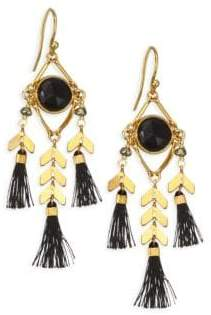 Chan Luu Moonstone Stone& Tassel Earrings