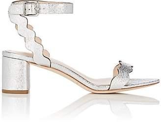 Loeffler Randall Women's Emi Crinkled Leather Sandals - Silver