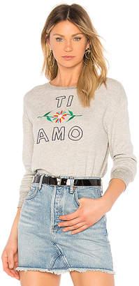 Sundry Ti Amo Crew Neck Pullover