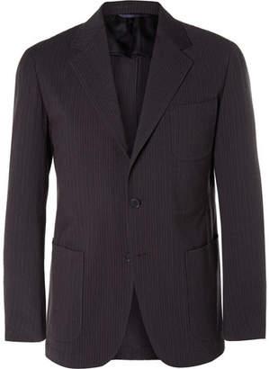 Camoshita Slim-Fit Striped Wool And Cotton-Blend Seersucker Suit Jacket