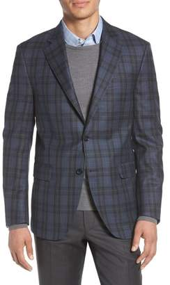 Peter Millar Classic Fit Plaid Wool Sport Coat