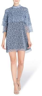 Catherine Malandrino Cass Print Chiffon Dress