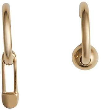 Burberry Kilt Pin earrings