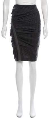 Brunello Cucinelli Virgin Wool Checkered Skirt
