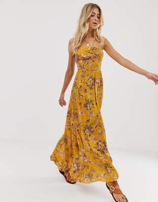 Free People One Step Ahead floral print halterneck maxi dress