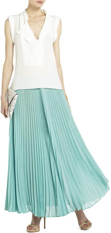 Wanderlust Estel Sunburst Pleated Maxi Skirt