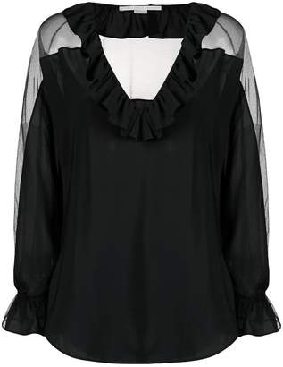 Stella McCartney sheer ruffle blouse