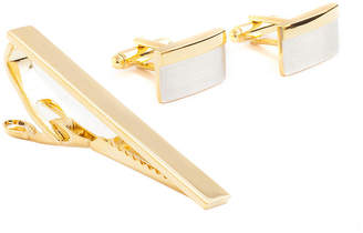 COLLECTION Collection by Michael Strahan Two-Tone Tie Bar and Cuff Links Set