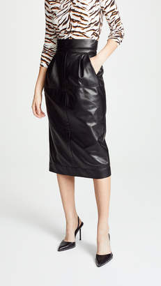 Marc Jacobs High Waisted Leather Skirt