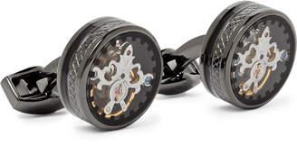 Tateossian Tourbillon Gear Gunmetal-Plated Cufflinks