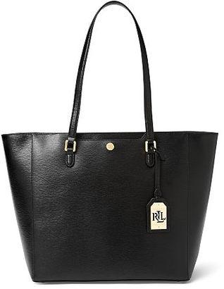 Ralph Lauren Saffiano Leather Halee Tote $198 thestylecure.com
