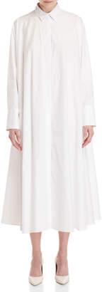 Jil Sander White Maxi Shirtdress