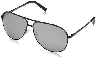 Armani Exchange Metal Unisex Polarized Iridium Aviator Sunglasses