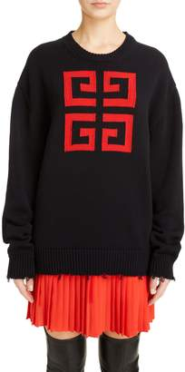 Givenchy Logo Jacquard Sweater