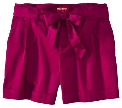 Merona® Women's Pleat Front Short w/Sash - Assorted Colors