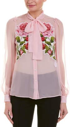 Dolce & Gabbana Applique Silk Blouse